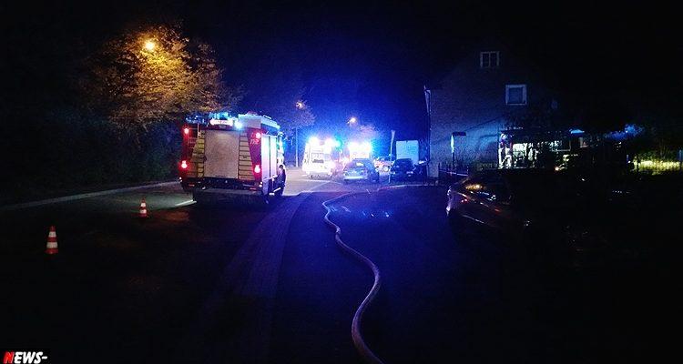 Engelskirchen: Bewohner wird durch Feuerwehr gerettet! Verdacht auf Rauchgasvergiftung   Mit Video!