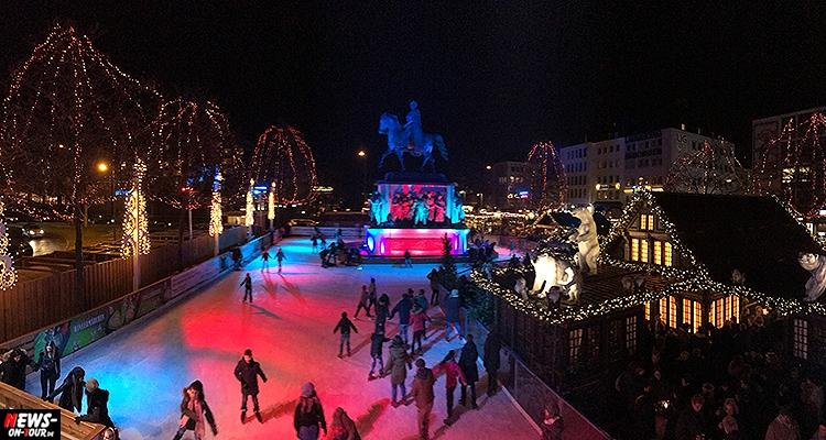 Köln: Weihnachtsmarkt in der Kölner Altstadt mit großer Eislaufbahn rund ums Reiterdenkmal am Heumarkt | Heinzels Wintermärchen