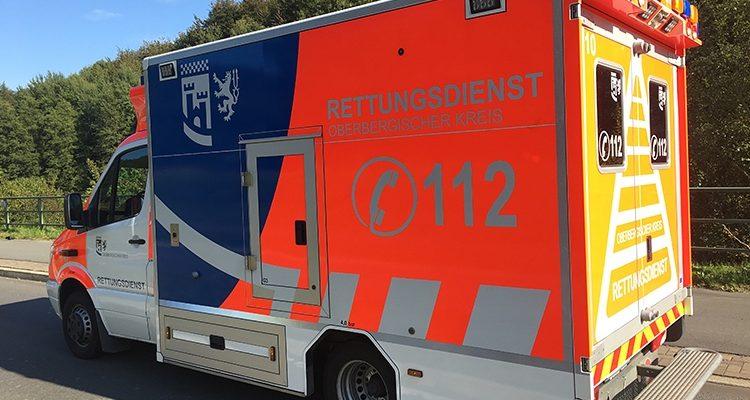 Hückeswagen: 55-Jähriger bei Betriebsunfall tödlich verletzt