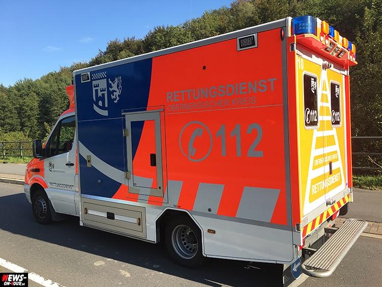Bergneustadt: Motorradfahrer bei Verkehrsunfall schwerstverletzt! Oberbergischer Kreis (NRW)