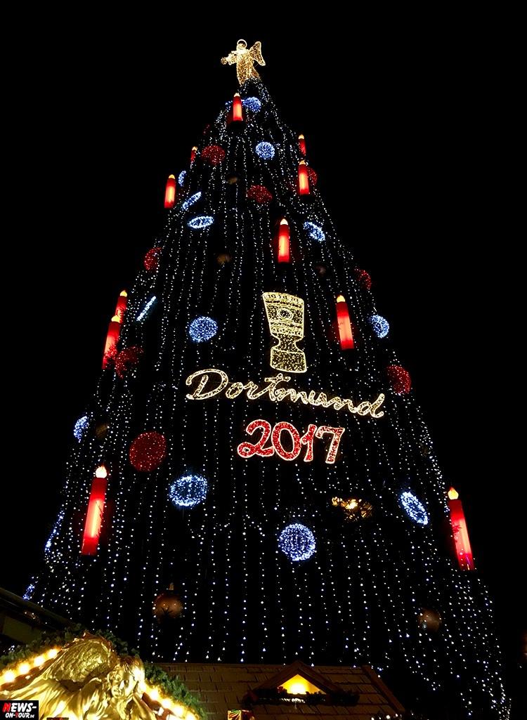 Dortmund Weihnachtsbaum.Weihnachtsmarkt Dortmund 2017 Größter Echter Weihnachtsbaum Der