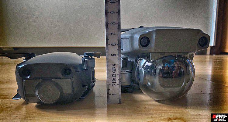 Drohnenkamera Größenvergleich: DJI Mavic 2 Pro vs. DJI Mavic Air   Der visuelle Größenunterschied in Bildern