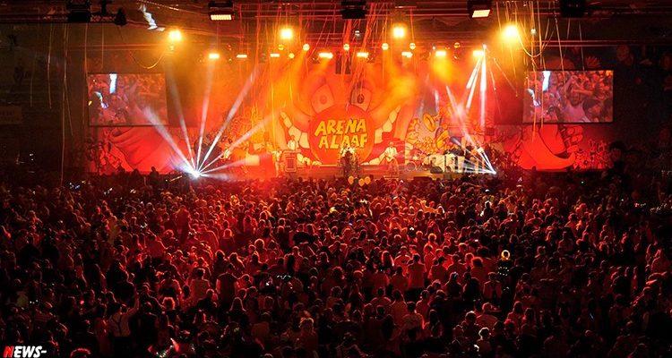 Arena Alaaf 2018! BRINGS kurzfristig abgesagt. 4.100 Jecke feierten ausgelassen in der SCHWALBE Arena am Fr. 16.11.2018