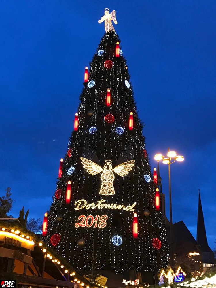 Dortmund Weihnachtsbaum.Weihnachtsmarkt Dortmund 2018 Größter Echter Weihnachtsbaum Der