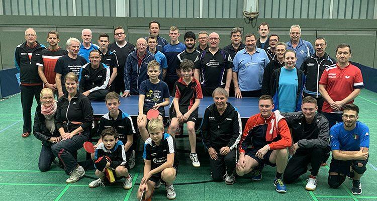 Neue Rekordbeteiligung beim 28. Fritz Müller Gedächtnis Tischtennis-Turnier! Reines Grothe-Grothe Finale | Mit Video
