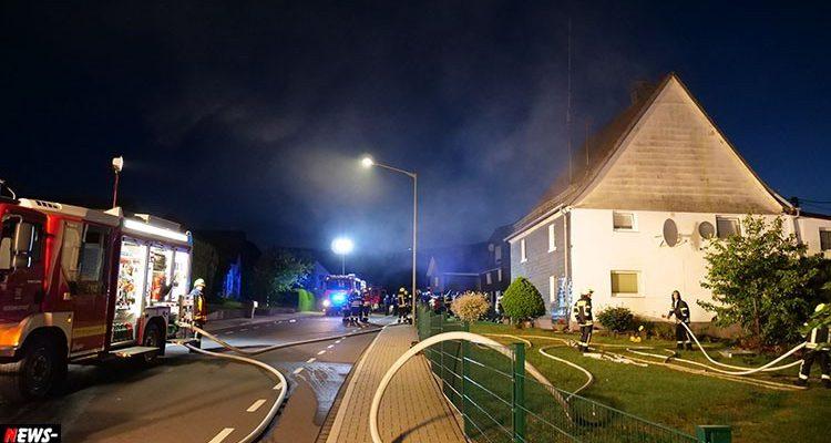 Bergneustadt: Brand in Wohnhaus! Eine Person lag vor der Tür. Zwei Personen schwer verletzt