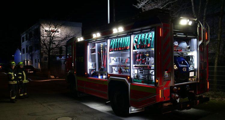 Wiedenest: Brand bei Klever Beschichtungstechnik am frühen Morgen! 45 Kameraden der Feuerwehr im Einsatz | (Bergneustadt) Oberbergischer Kreis/NRW
