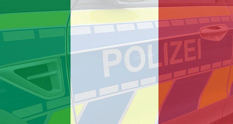 Azzurri jubeln friedlich in der Innenstadt von Attendorn nach Sieg über Belgien (UEFA 2021)
