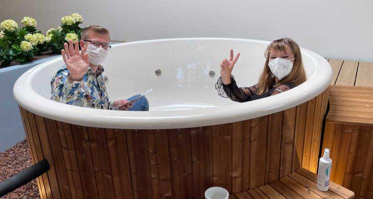 Mega Eröffnungsparty mit 1.000 Besuchern! Holzklusiv Gummersbach Hot Tub Showroom Eröffnung